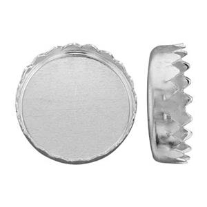 SS610: Sterling Silver Round Serrated Bezel Cup