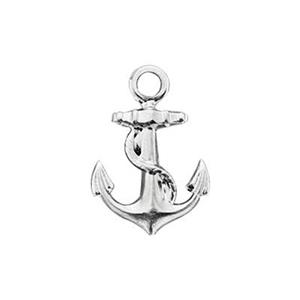 ST430: Tiny Navy Anchor Charm