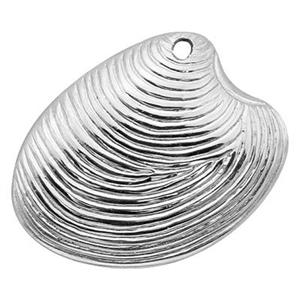 ST530: Sterling Silver Mussel Shell Charm