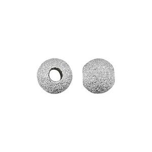 STAR4: Sterling Silver 4mm Stardust Round Beads