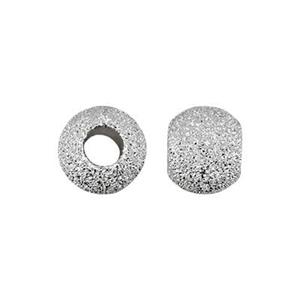 STAR5: Sterling Silver 5mm Stardust Round Beads