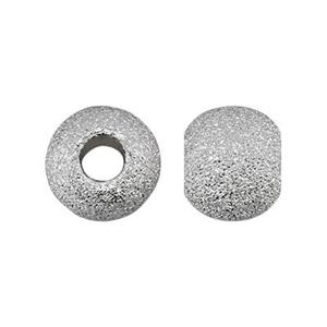 STAR6: Sterling Silver 6mm Stardust Round Beads
