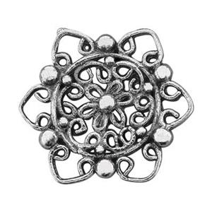 SUR87: Sterling Silver Filigree Star Flower Link