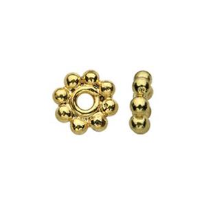 TG131001: Gold-Plated Sterling Silver 5mm Heishe Bead