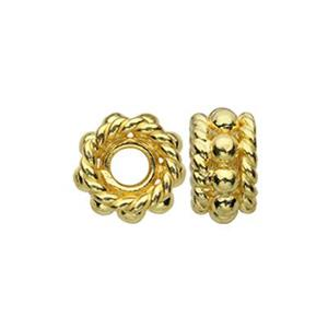 TG131018: Gold-Plated Sterling Silver Bali Style Bead