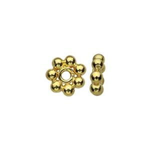 TG131051: Gold-Plated Sterling Silver Heishe Bead