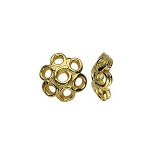 TG153001: Gold-Plated Sterling Silver 5mm Bead Cap