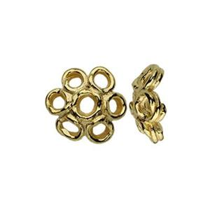 TG153002: Gold-Plated Sterling Silver 6mm Bead Cap