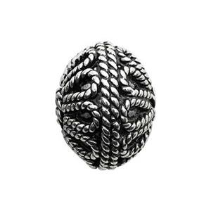 TK103002: Sterling Silver Bali Style Roped Round Beads