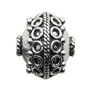 TK114003: Sterling Silver Large Bali Style Design Bead
