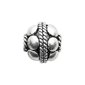 TK117001: Sterling Silver Granular Bali Style Round Bead