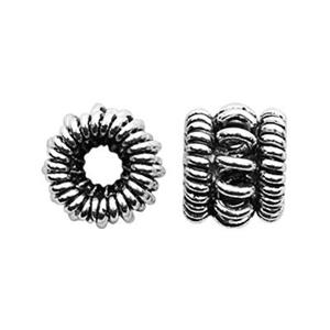 TK130040: Sterling Silver Coiled Rondell Bead