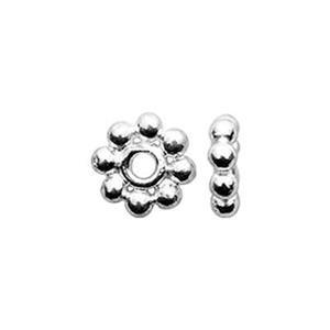 TK131001B: Sterling Silver Bright Daisy Heishe Beads