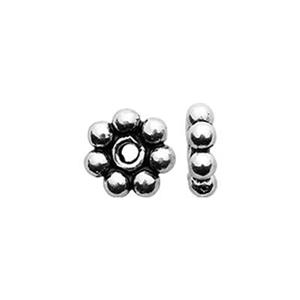 TK131052: Sterling Silver Oxidized Heishe Beads