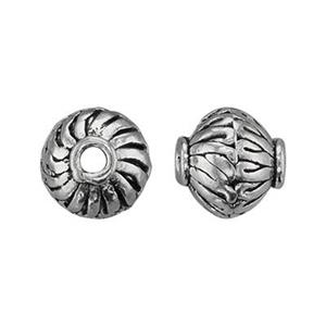 TK132001: Sterling Silver Bali Style Bicone Bead