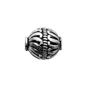 TK132012: Sterling Silver Bali Style Round Bead