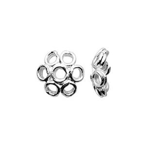 TK153001B: Sterling Silver Loop Daisy Bead Caps