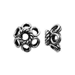 TK156002: Sterling Silver Shaped Loop Daisy Bead Caps