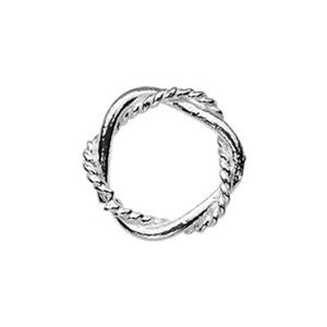 TK181033B: Sterling Silver 7.8mm Soldered Twist Jump Ring