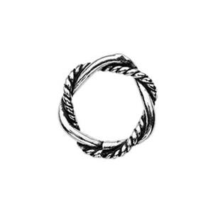 TK181033: Sterling Silver 7.8mm Soldered Twist Oxidized Jump Ring