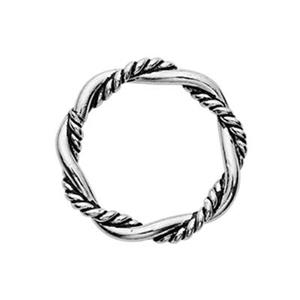 TK181035: Sterling Silver 10mm Soldered Twist Oxidized Jump Ring