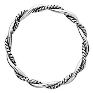 TK181039: Sterling Silver 15.2mm Soldered Twist Oxidized Jump Ring