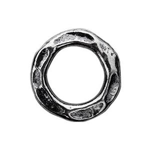 TK184022: Sterling Silver Hammered Circle Ring Link