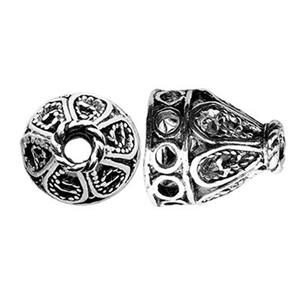 TK260010: Sterling Silver Long Filigree Bead Cone