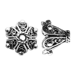 TK260020: Sterling Silver Filigree Bead Cone