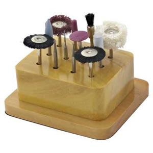 X350: 12pc Lapidary Accessory Kit with Wood Base.