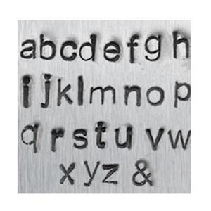 X596: 1.5mm Lowercase Economy Letter Metal Stamps