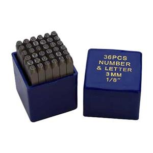 X599: 3mm Number and Uppercase Letter Metal Stamps