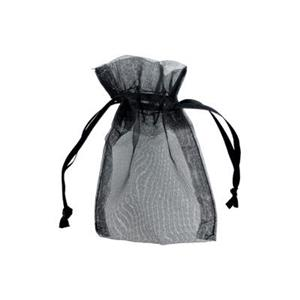 Z34J: Black Organza Gift Bag