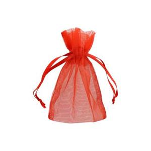 Z34RU: Red Organza Gift Bag