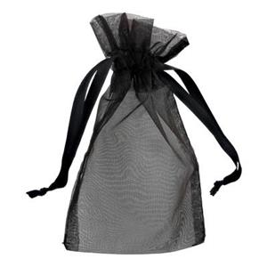 Z46J: Black Organza Gift Bag