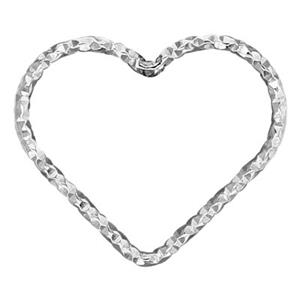 SA026: 20.5x17.7mm 17ga Diamond Cut Wire Heart Link
