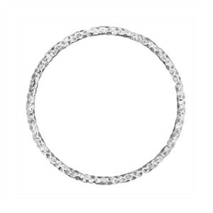 SA051: 22.5mm 17ga Diamond Cut Circle Wire Link