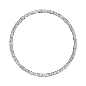 SA052: 25mm 17ga Diamond Cut Circle Wire Link