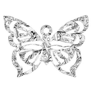 SA201: 20.8x15.5mm Butterfly Charm, 1.1mm Ring ID