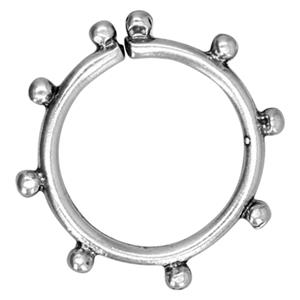 SH962: 17.6mm Granule Open Ring Link, 1.8mm Beads