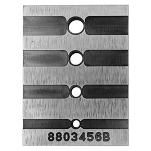 XZ3456: 38.2x51mm Bezel Chain Setting Block, 3,4,5,6mm Setting Sizes